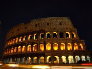 Colosseum at night (click to enlarge)